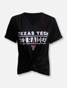 Texas Tech Red Raiders Knotted Juke Fashion Top T-Shirt