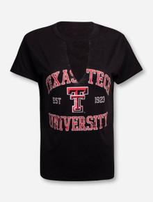 """Texas Tech Red Raiders  ZooZatz """"Comeback"""" V-Neck Fashion Top T-Shirt"""