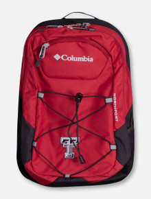 """Columbia Texas Tech """"Northport"""" Black and White Double T Backpack"""