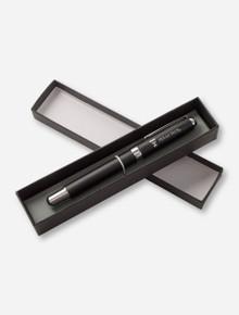 Laser Engraved Double T & Texas Tech on Matte Black Pen