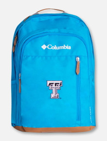 """Columbia Texas Tech """"Aspen Trail"""" Black and White Double T Backpack"""