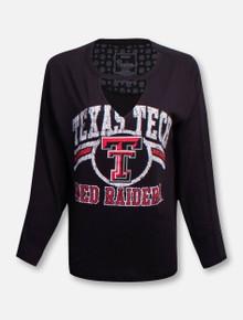 "Texas Tech Red Raiders ""Scout"" Choker V-Neck Long Sleeve T-Shirt"