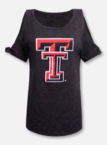 Texas Tech Red Raiders LivyLu Cold Shoulder DoubleT-Shirt