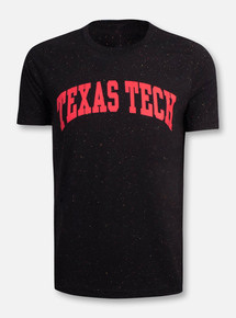 Texas Tech Red Raiders Arch in Red on Black Confetti T-Shirt
