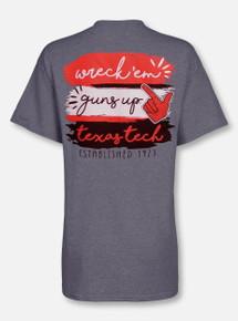 "Texas Tech Red Raiders  ""Paint Brush"" Team Color T-Shirt"