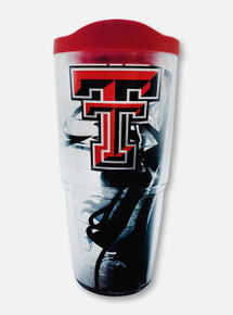 Texas Tech Red Raiders Double T Masked Rider 24oz Travel Tumbler