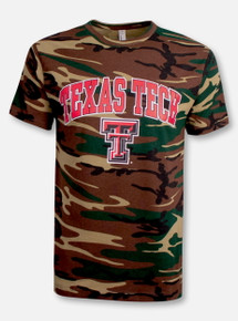 Texas Tech Red Raiders Arch over Double T Camo T-Shirt