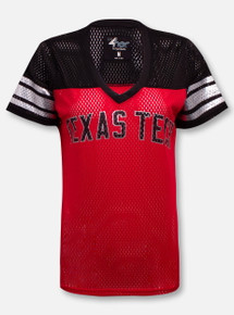 Texas Tech Red Raiders Double T on Back Jersey Blouse