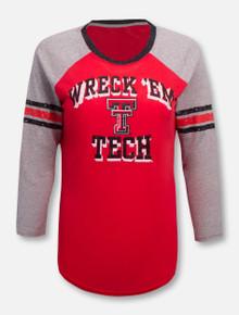 Texas Tech Red Raiders Wreck 'Em Tech Raglan Long Sleeve T-Shirt