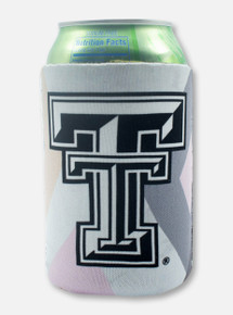 Texas Tech Red Raiders Black and White Double T Reversible Marbling Can Cooler