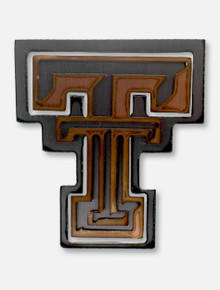 Texas Tech Red Raiders Copper and Steel Double T Magnet