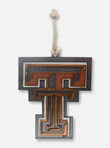 Texas Tech Red Raiders Copper and Steel Double T Ornament