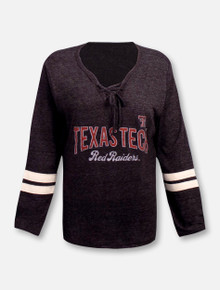 """Blue 84 Texas Tech Red Raiders """"Lydia"""" Lace Up Crew Shirt"""