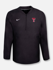 """Nike Texas Tech Red Raiders Double T """"Lockdown"""" 1/4 Zip Pullover"""
