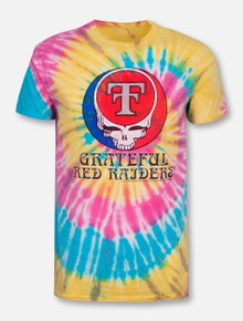 "Retro Brand Texas Tech Red Raiders Throw Back Double T ""Grateful Red Raiders""  Tie Dye T-Shirt"