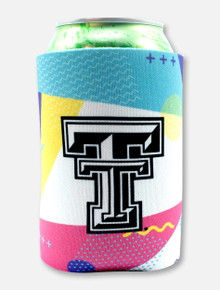 "Texas Tech Black and White Double T ""To the Max"" Can Cooler"