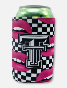 "Texas Tech Black and White Double T ""Lips"" Can Cooler"