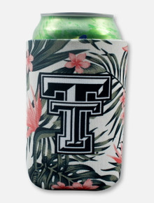 "Texas Tech Black and White Double T ""Palm"" Can Cooler"