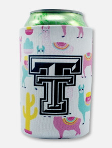"Texas Tech Black and White Double T ""Llama"" Can Cooler"