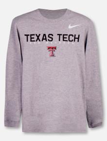 ece2e3794ac3 Nike Texas Tech Red Raiders Double T YOUTH Long Sleeve T-Shirt