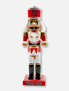 "Texas Tech Red Raiders 10"" Wooden Nutcracker with Drum"