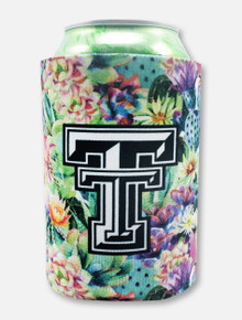 "Texas Tech Black and White Double T ""Succulents"" Can Cooler"