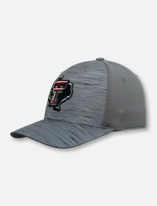 "Top of the World Texas Tech Red Raiders Pride Logo ""Hyper"" Stretch Fit Cap"