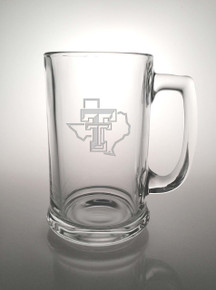 Texas Tech Red Raiders Etched Pride Logo Beer Stein