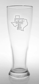 Texas Tech Red Raiders Etched Pride Logo Beer Pilsner