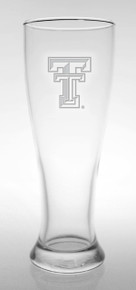 Texas Tech Red Raiders Etched Double T Beer Pilsner