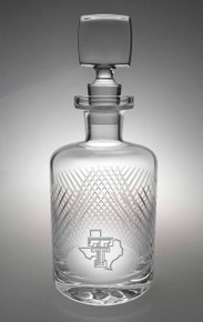 "Texas Tech Red Raiders Etched Pride Logo ""Bourbon Street"" Whiskey Decanter"