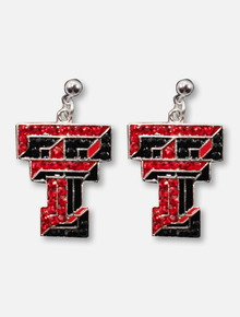 Texas Tech Red Raiders Double T Crystal Earrings