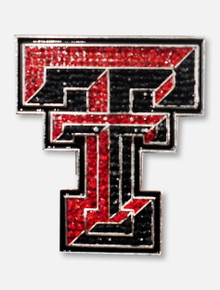 Texas Tech Red Raiders Double T Crystal Pin