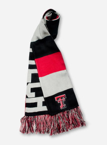Texas Tech Reversible Baker Red, Black & Grey Scarf