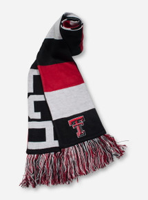 Texas Tech Reversible Baker Red, Black & White Scarf
