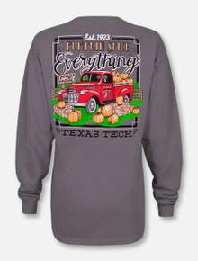 "Texas Tech Red Raiders ""Pumpkin Spice"" Long Sleeve T-Shirt"