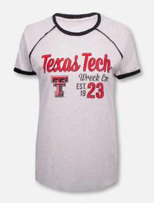 "Blue 84 Texas Tech Red Raiders ""Poppy"" Raglan Piping Tee"