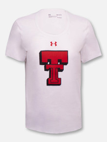 "Under Armour Texas Tech Red Raiders Women's Throwback ""Branded"" Charged Cotton Short Sleeve T-Shirt"