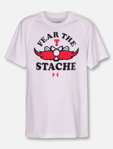 """Under Armour Texas Tech Red Raiders """"Fear The Stache"""" YOUTH Short Sleeve T-Shirt"""