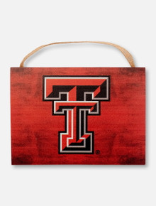 Texas Tech Red Raiders Full Color Double T on Red Plaque