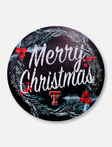 """Texas Tech Red Raiders """"Merry Christmas"""" with Double T Wall Decor"""