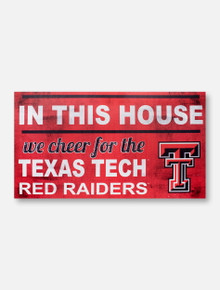 "Texas Tech ""In This House"" with Double T Wall Decor"