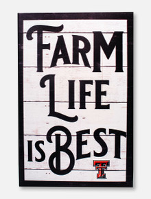"""Texas Tech Red Raiders """"Farm Life"""" with Double T Wall Art"""