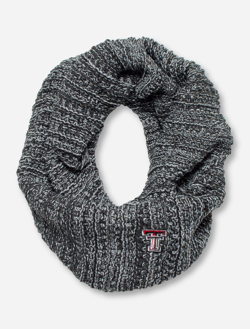 91c7ca0b9d9ae The Game Texas Tech Red Raiders Cable Knit Grey Infinity Scarf