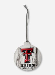 Legacy Texas Tech Red Raiders Lubbock, TX  Wooden Ornament