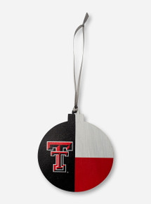 Legacy Texas Tech Red Raiders Texas Flag  Wooden Ornament