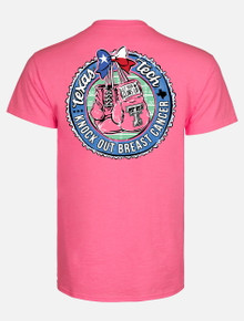 """Texas Tech Red Raiders Black and White Double T """"Knock Out"""" Breast Cancer T-Shirt"""