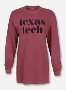 """Texas Tech Red Raiders """"Pristine"""" Long Sleeve T-Shirt"""