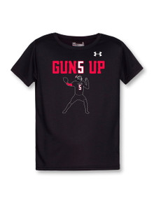 Under Armour Texas Tech Red Raiders Mahomes Guns Up Performance Tee YOUTH Short Sleeve T-Shirt