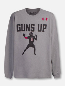 Under Armour Texas Tech Red Raiders Mahomes Guns Up YOUTH Long Sleeve T-Shirt